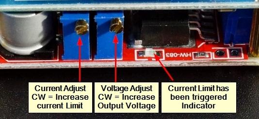 DC-DC Step Down CC & CV Module - Adjustment Pots