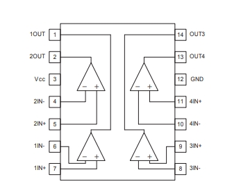 LM339 Pin Connections