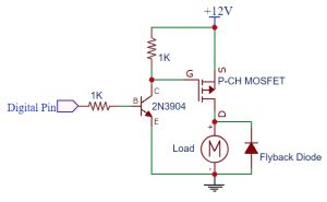 P-CH MOSFET Logic Level Circuit 12V