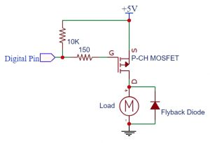 P-CH MOSFET Logic Level Circuit 5V