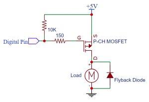 P-CH MOSFET Logic Level Circuit 5V