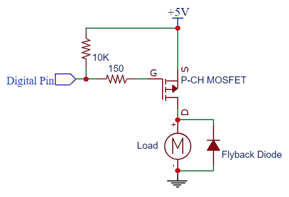 i p converter circuit diagram p channel mosfet circuit diagram power mosfet p-ch 60v/27a fqp27p06 - protosupplies #9