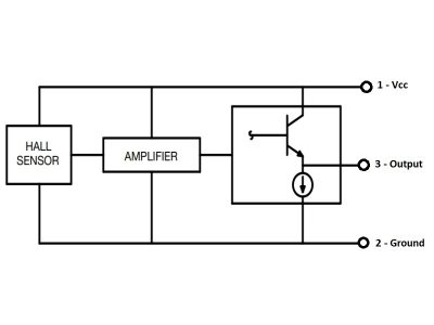 49E Analog Hall Effect Sensor Logic Diagram
