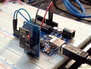SP8266 ESP-01 Adapter Module - Test Setup