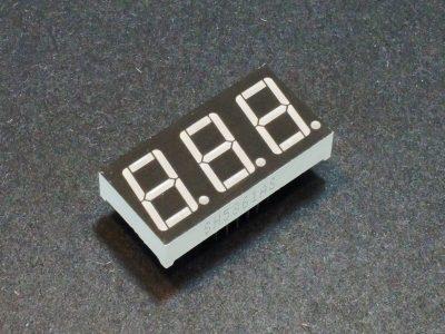 LED 7-Segment 0,56 inch Red X 3