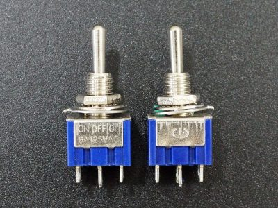 Miniature Toggle Switch DPDT ON-OFF-ON 6A - Side