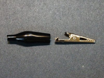 Alligator Clip, 35mm, Black - Exploded