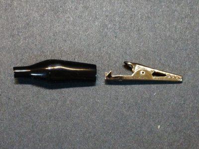 Alligator Clip, 35mm, Black - Exploded