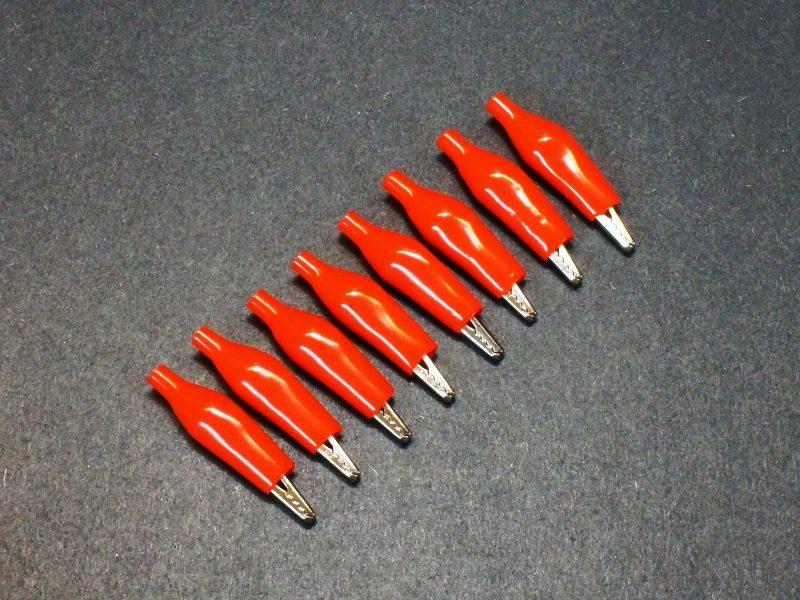 Alligator Clip, 35mm, Red 8-Pack