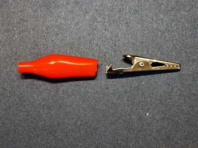 Alligator Clip, 35mm, Red - Exploded