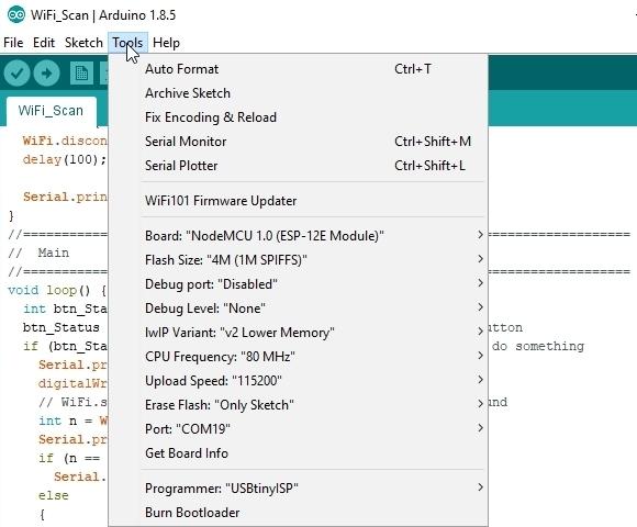 NodeMCU V1.0 IDE Setup