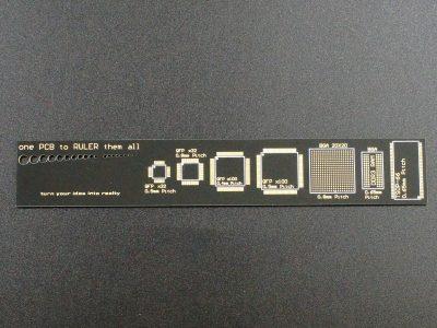 PCB Ruler 6 inch - Back