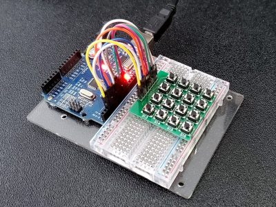 Tactile Pushbutton 4x4 Matrix Keypad - In Operation