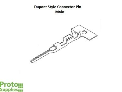 Dupont Style Connector Pin Male - Details