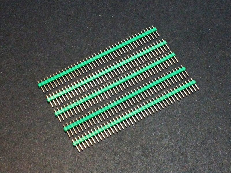 Header Male 1 x 40 Single-Row Green 5-Pack