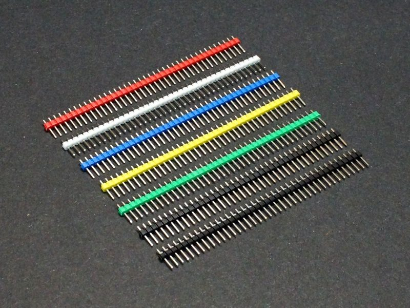 Header Male 1 x 40 Single-Row Multi-Color 7-Pack