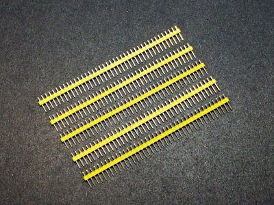 Header Male 1 x 40 Single-Row Yellow 5-Pack