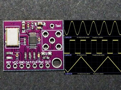 AD9833 Function Generator Module - with Waveforms