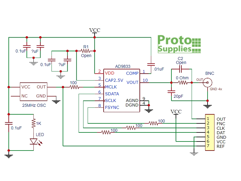 Ad9833 Function Generator Circuit   #1 Wiring Diagram Source