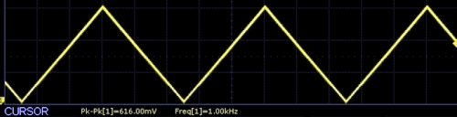 AD9833 Scope Capture 1khz triangle wave