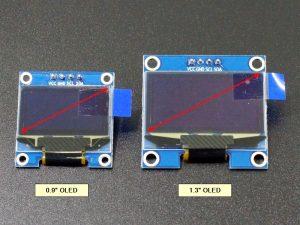 OLED 0.9 vs 1.3 Size Comparison