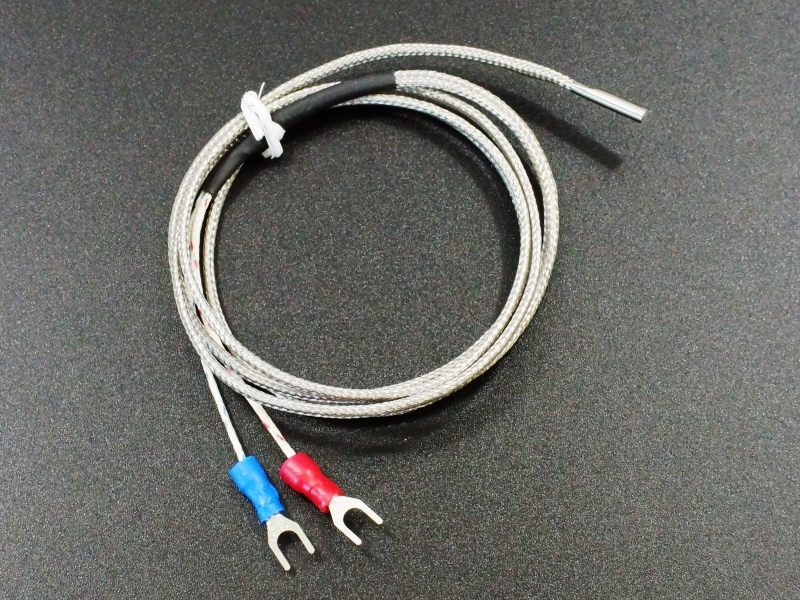 Thermocouple K-Type, SS Braid, 3x15 cylindrical sensor, 1M