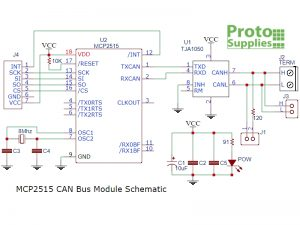 MCP2515 CAN Bus Module Schematic
