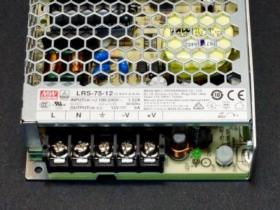 Power Supply LRS-75-12 - Connections