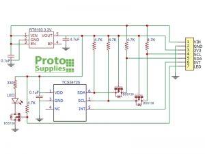 TCS34725 Module Schematic