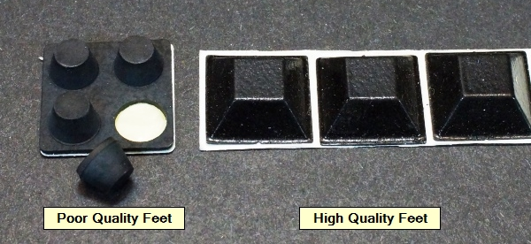 Adhesive Feet Comparison