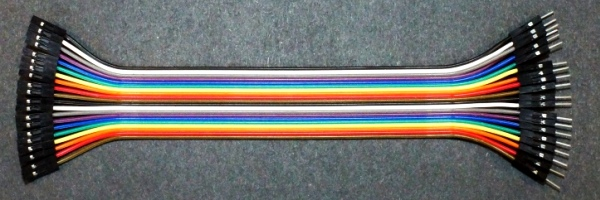Dupont Style Male-Female Jumper Cable Example