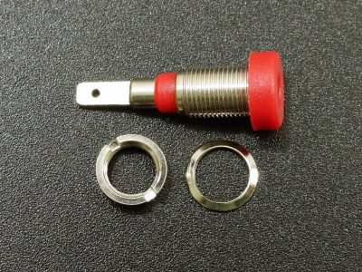 Banana Jack, 2mm, Low Profile with QD - Exploded View
