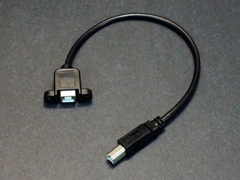 USB Type B Panel Mount Extension Cable