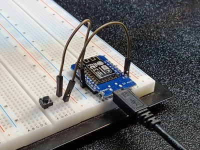 ESP8266 D1 Mini Test Setup