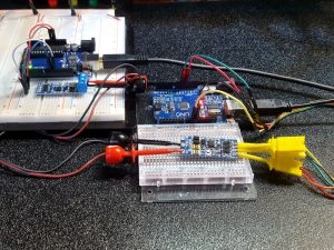 SCM TTL to RS-485 Adapter Module - In Use