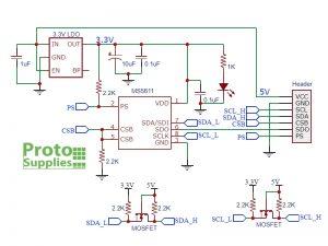 GY-63 MS5611 Pressure Sensor Module Schematic