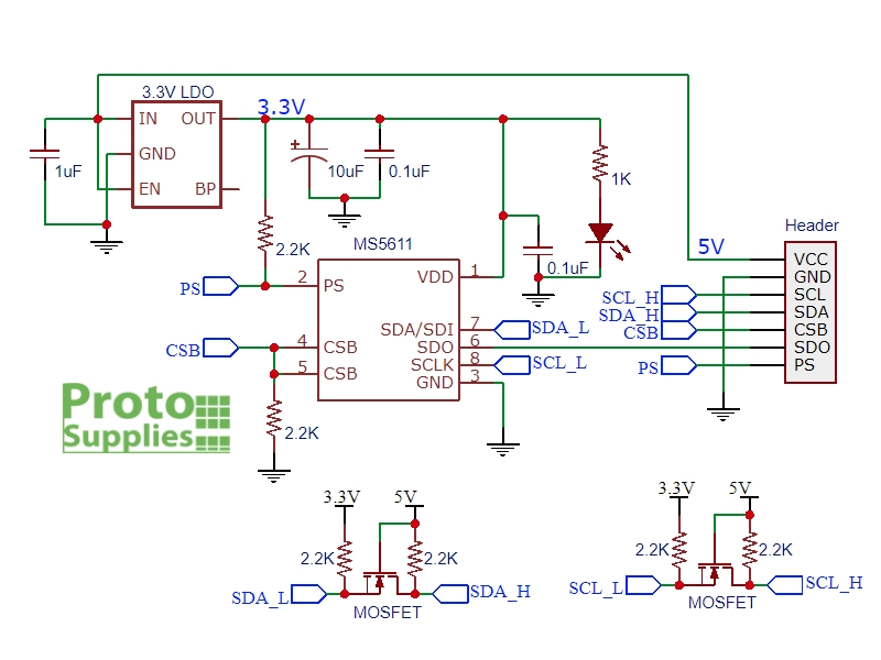 Enjoyable Gy 63 Ms5611 Pressure Temperature Sensor Module Protosupplies Wiring Cloud Hisonuggs Outletorg