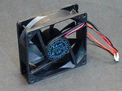 D80SH-12 Axial Fan 12V - Quarter View