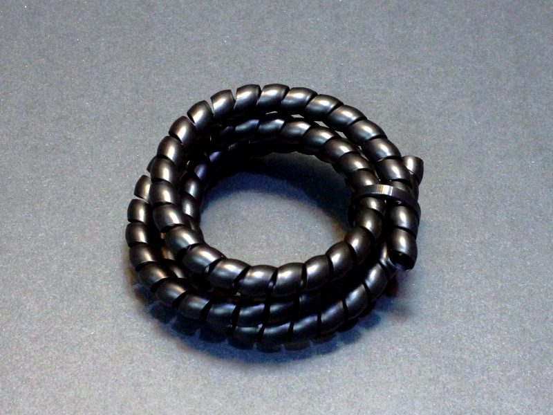 Spiral Cable Wrap Black 10mm x 36 inch