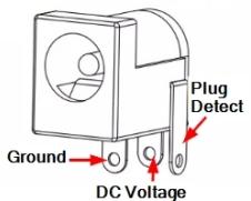 DC Power Jack PCB Mount - Pinout