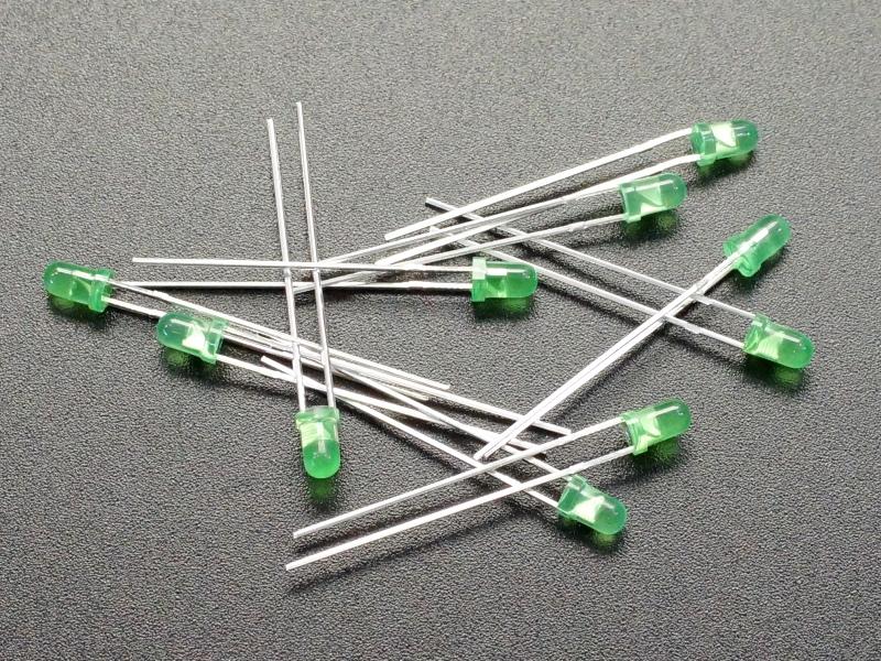 LED 3mm Green 10-Pack
