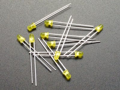 LED 3mm Yellow 10-Pack