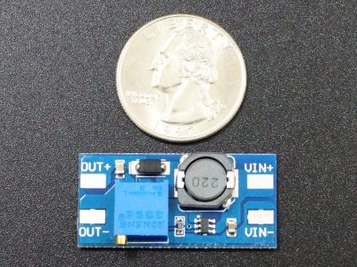 MT3608 DC-DC Boost Converter - Size Comparison