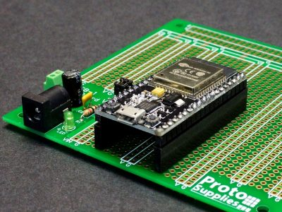 ESP32 on MCU Proto Board with DC Input