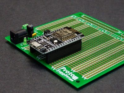 ESP8266 on MCU Proto Board with DC Input