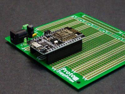 ESP8266 on MCU Proto Board with DC Input