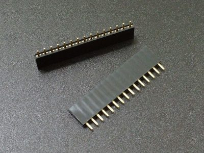 Header Female 1 x 15 Single-Row Gold 2-Pack