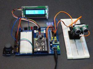 Mega Breadboard Joystick LCD Servo Setup