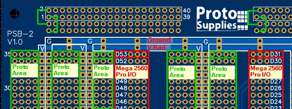 Mega2560 Pro CAD - Proto Area