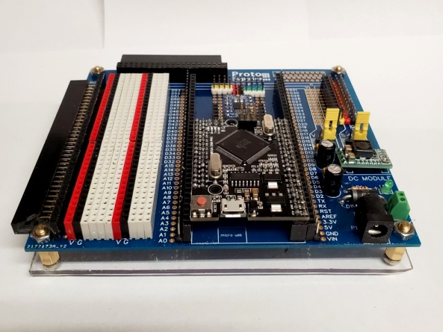 Mike H Mega Breadboard - End View
